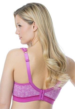 Comfort Choice Womens Plus Size Seamless Wireless Leisure Brab