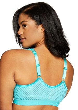 Comfort Choice Womens Plus Size Wireless Front Hook Seamless Leisure Bra