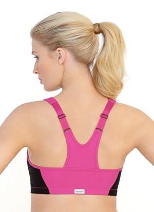 Glamorise Womens Plus Size High Impact Magiclift Zippered Sports Bra back