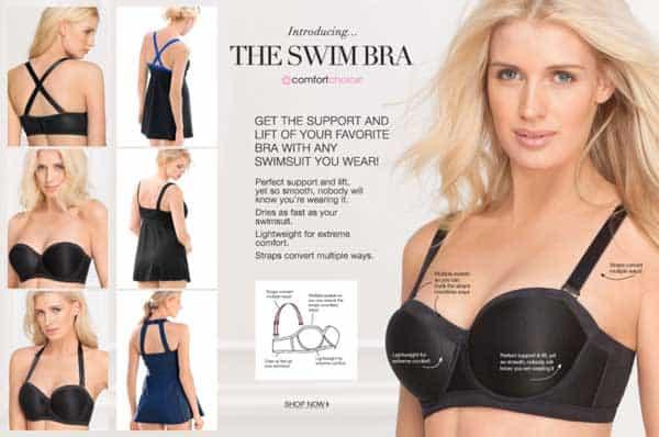 Comfort choice swim bra