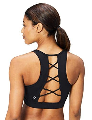Core 10 Women's (XS-3X) Lattice Strappy Back Longline Yoga Sports Bra