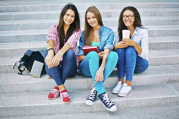 group of teenage girls