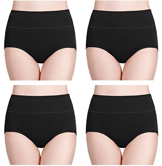 wirarpa Women's Cotton Underwear High Waist Full Coverage Brief Panty Multipack