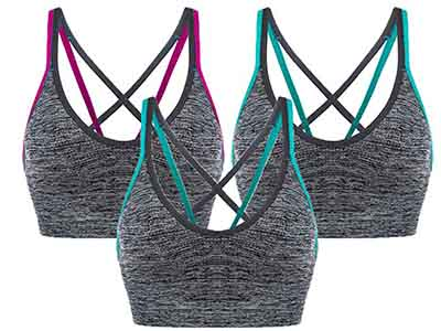 AKAMC Removal Padded Sports Bra
