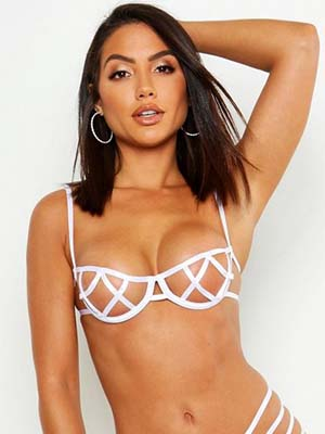 Boohoo Strapping Peek-a-Boo Set
