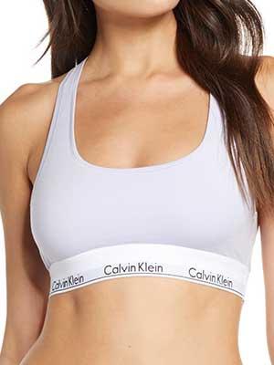 Calvin Klein Modern Cotton Collection Blend Racerback Bralette