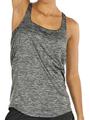 Icyzone Activewear Built-In Bra Tank Top