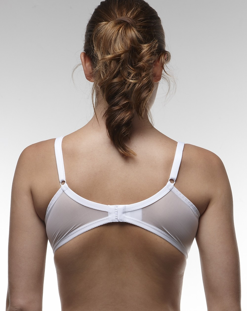 image of an ill-fitting bra with the band too tight