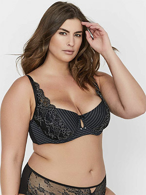 Lace and Striped Diva Bra