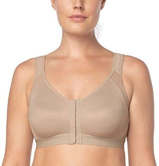 Leonisa Back Support Posture Corrector Wireless Bra Adjustable Front Closure