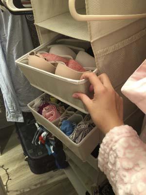 Simple Houseware Closet Underwear Organizer Drawer 4 Set Divider