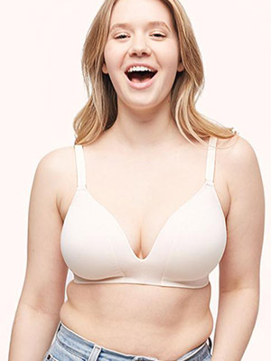 The Mesh-Trim No-Wire Bra