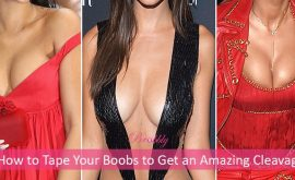 how to tape your boobs to get an amazing cleavage