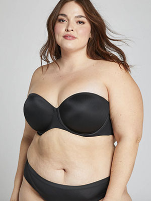Best Convertible Bra: Cacique Lightly Lined Strapless Bra