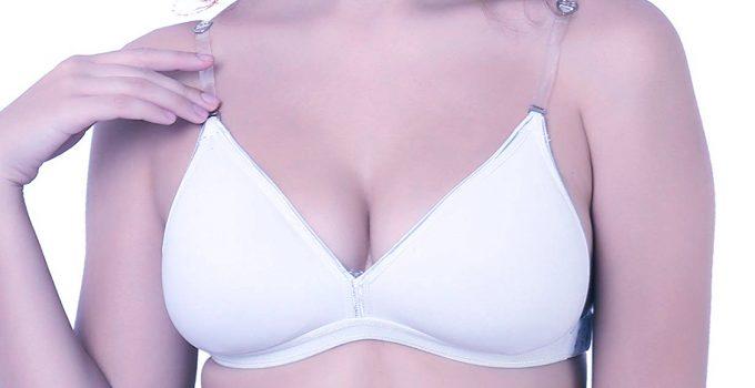 plus size bra with clear plastic straps
