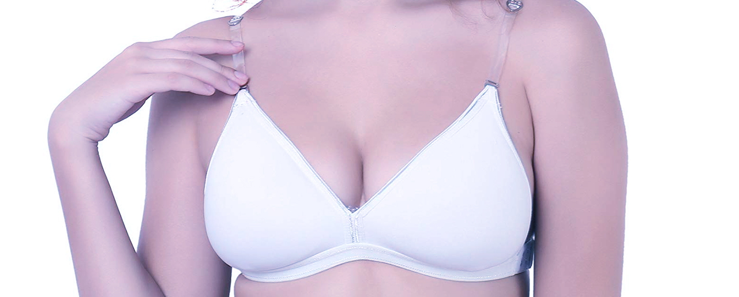 plus size bra with clear plastic straps