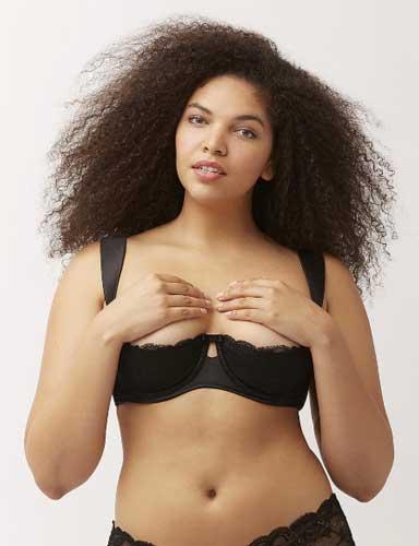 quarter cup bra
