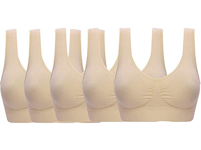 Ohlyah Women's Seamless Wire-Free Bra with Removable Pads