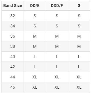 bravado original full cup bra size chart