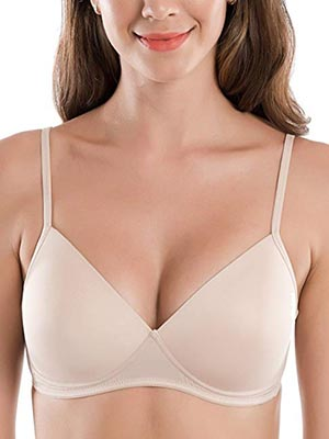 Delimira Smooth Wire-Free Lightly Padded Triangle Contour T-shirt Bra