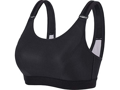 Syrokan Women's Front Adjustable Wire-Free High Impact Full Support Plus Size Sports Bra