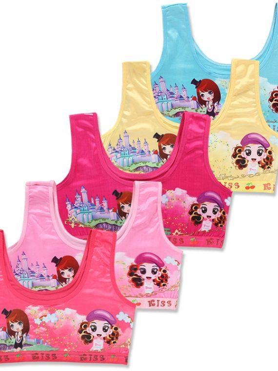 Cute Colorful Training Sports Bra for Kids & Teens (3 Bras) 1