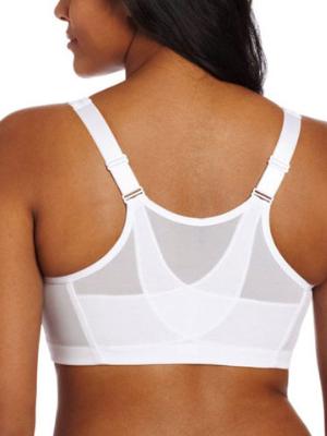 Glamorise Women's MagicLift Front Close Posture Support Bra back