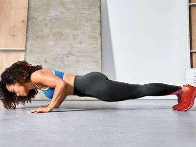 lady doing push ups