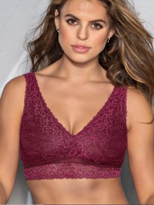 Leonisa Full Coverage Plunge Lace Bralette