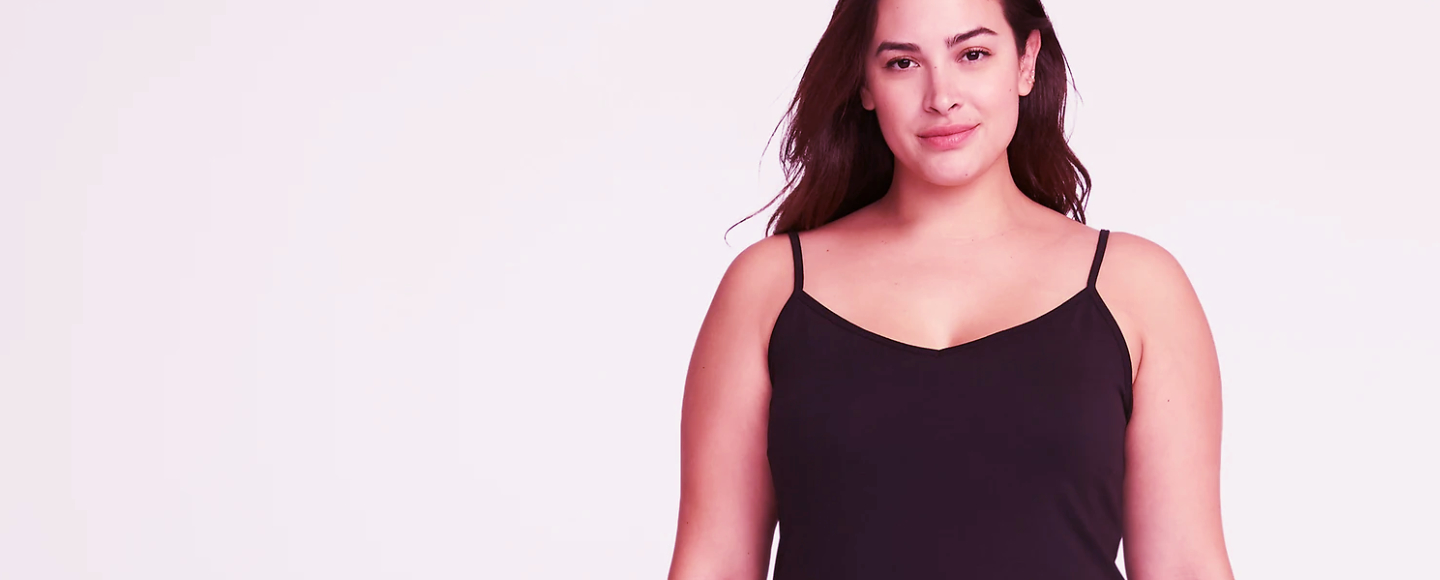 tank top with built in bra plus size